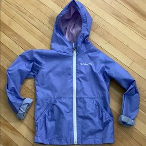 Girls Columbia shell rain jacket 7/8